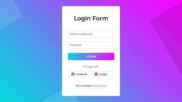 Animated Login Form using HTML CSS & JavaScript