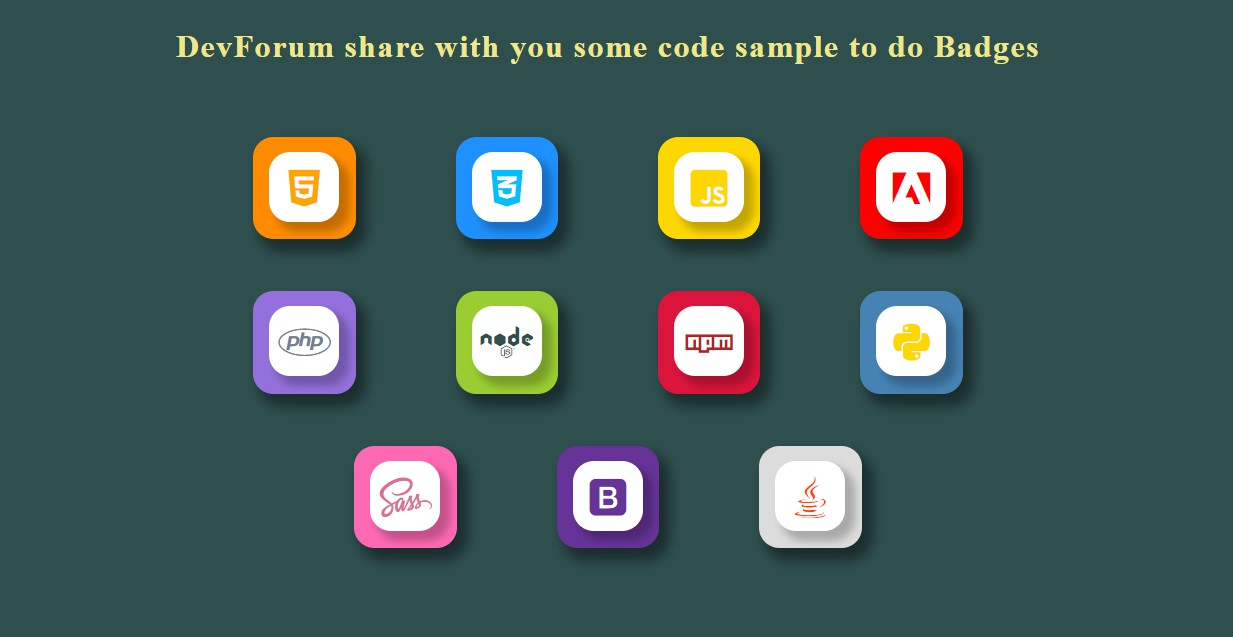 Code Badge with HTML and CSS