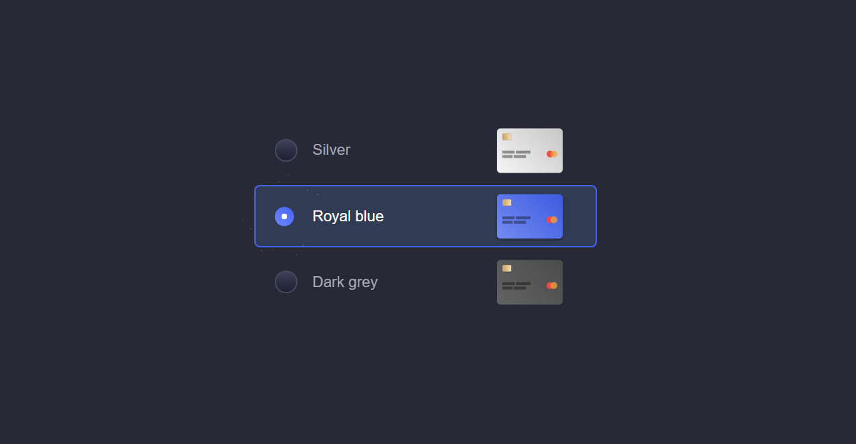 Radio Redit Card with CSS