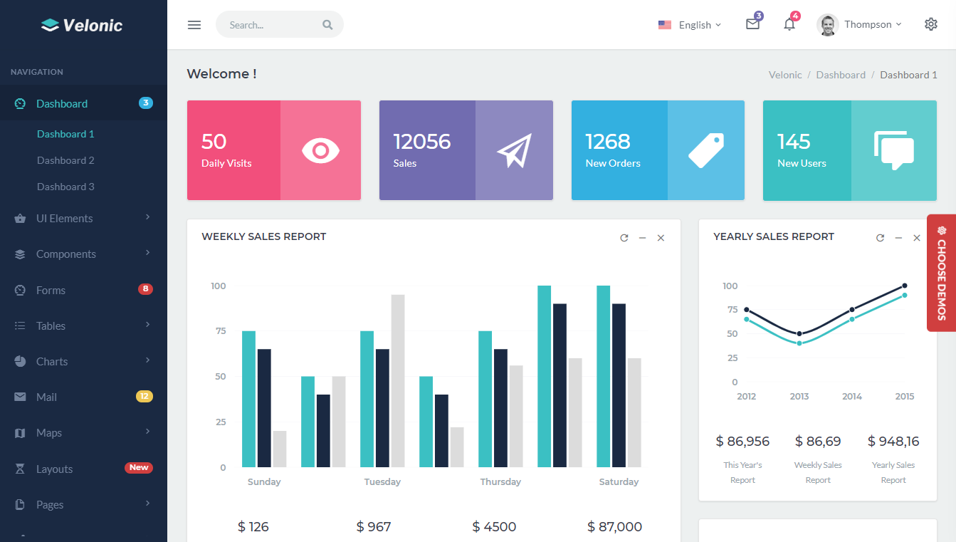 Velonic - Admin Dashboard Template
