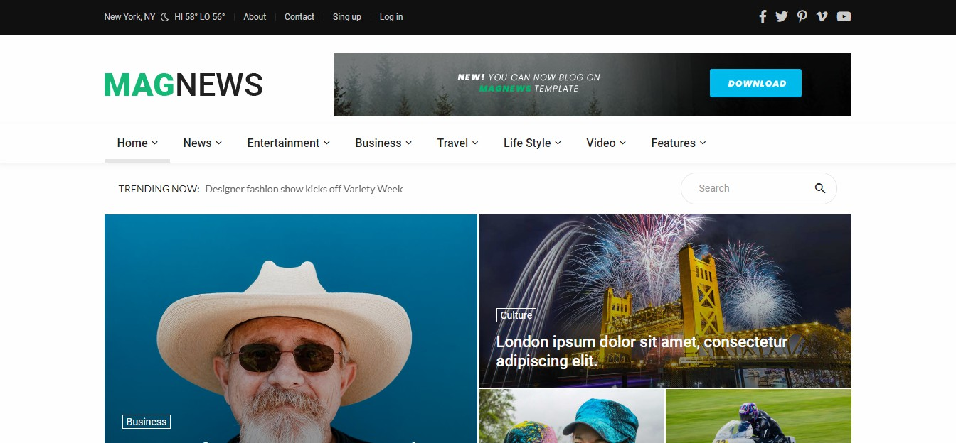 Magnews2 - Blog Template
