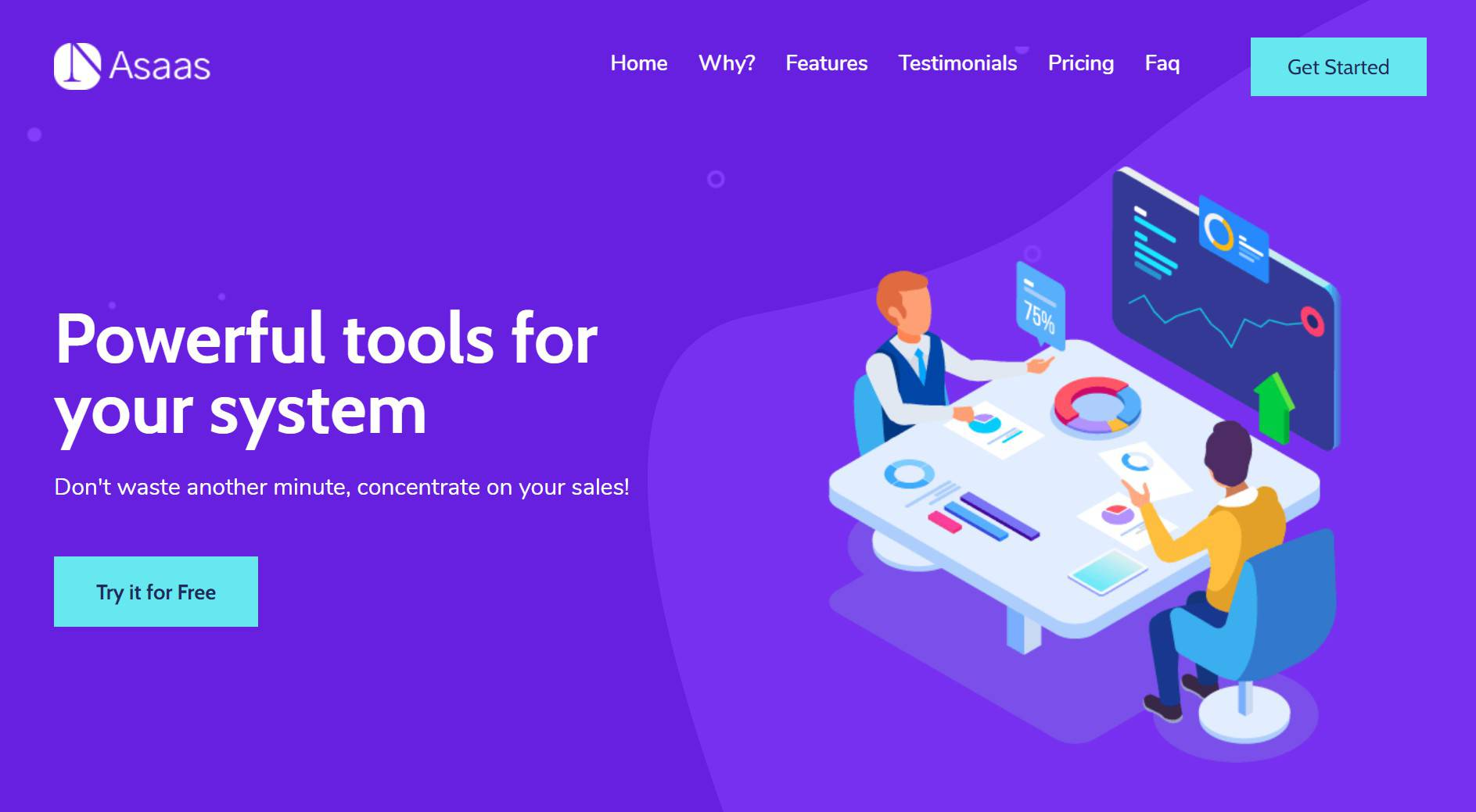 Asaas – Company Landing Page Template