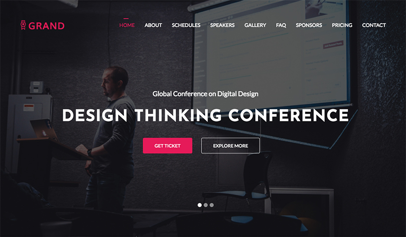 Grand – Free Event And Conference Template