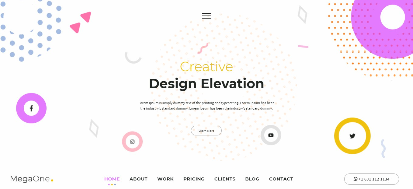 MegaOne Template - Creative Studio