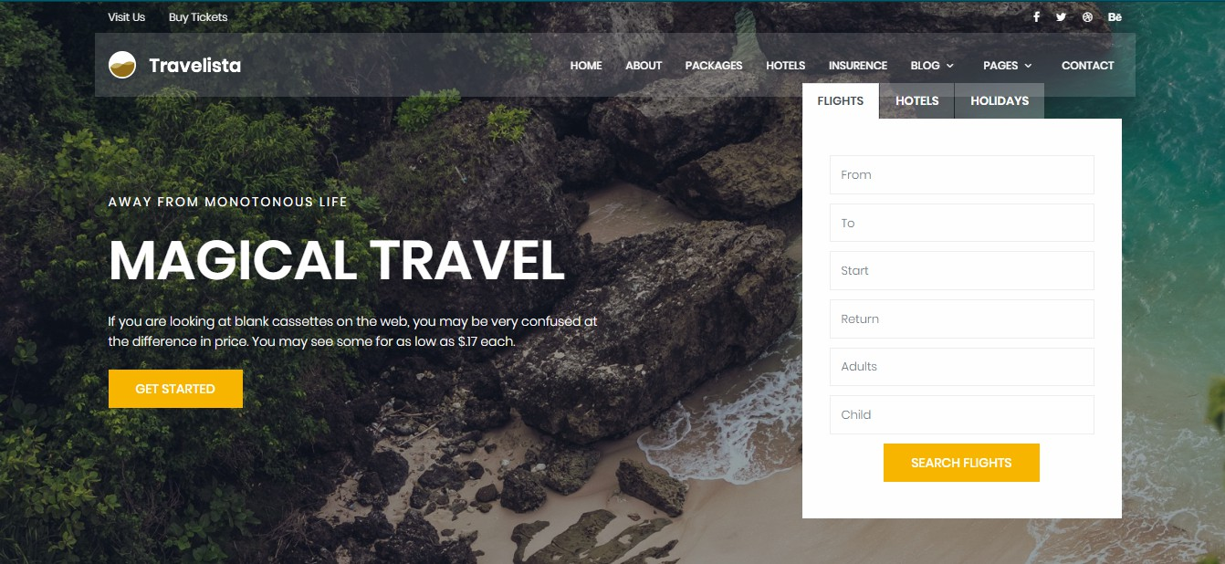 Travelista - Travel Template